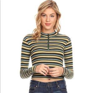 Brand new rib knit crop top